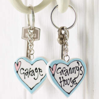 Gallery Thea Personalised Ceramic Heart Key Ring