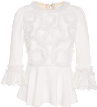 Andrew Gn Appliqué Embellished Peplum Top