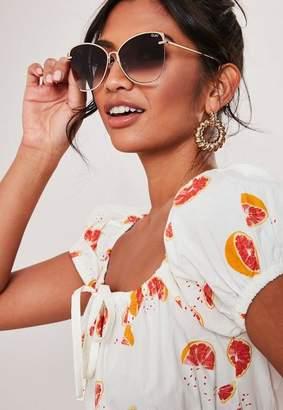 Missguided Australia X Nabilla Black Dusk To Dawn Gold Frame Sunglasses