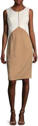 Ava & Aiden Colorblocked Crewneck Dress