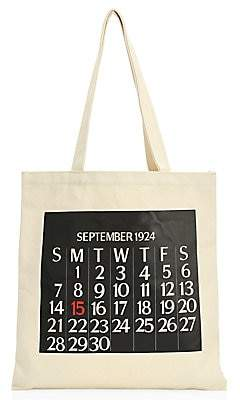 Saks Fifth Avenue Women's Calendar Canvas Tote Bag