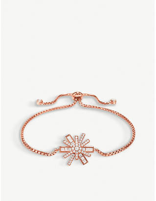 Folli Follie Star Flower rose-gold plated bracelet