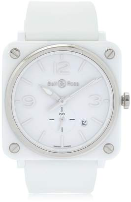 Bell & Ross Brs White Ceramic Watch