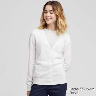 Uniqlo WOMEN UV Cut Supima Cotton V Neck Cardigan
