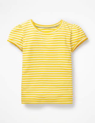 Boden Short-sleeved Pointelle Top