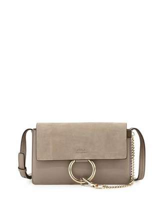Chloe Faye Small Suede Shoulder Bag, Gray $1,390 thestylecure.com