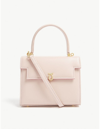 Launer Poudre Pink Viola Leather Tote Bag