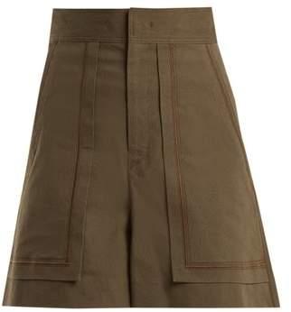 Isabel Marant Lucky A Line High Waist Shorts - Womens - Dark Green