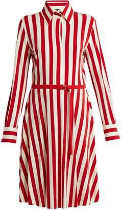 Norma Kamali Striped shirtdress