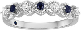MODERN BRIDE I Said Yes 1/6 CT. T.W. Diamond and Sapphire Ring