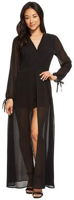 American Rose Leah V-Neck Long Sleeve Romper Women's Jumpsuit & Rompers One Piece