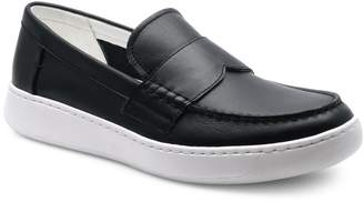 Calvin Klein Leather Round Toe Loafers
