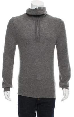 Burberry Cashmere Nova Check Trim Sweater