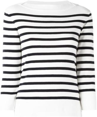 Woolrich boat neck striped jumper $144.15 thestylecure.com