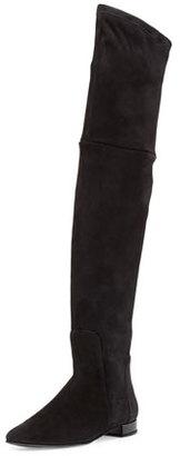 Delman Evoke Suede Over-the-Knee Boot, Black $798 thestylecure.com