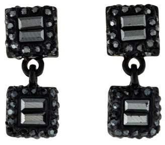 St. John Crystal Drop Earrings