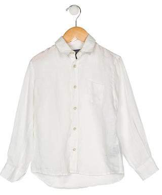 Vilebrequin Kids Boys' Linen Long Sleeve Shirt