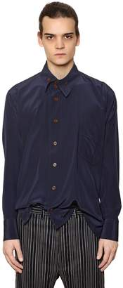 Vivienne Westwood Fluid Viscose Shirt W/ Asymmetric Collar