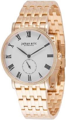 Johan Eric Men's Holstebro Quartz Gold Stainless Steel Bracelet Watch
