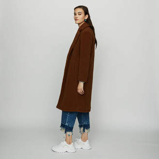 Maje Long faux fur coat