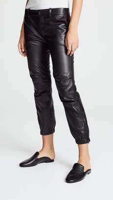 Nili Lotan Cropped French Military Leather Pants