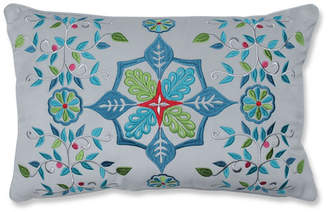 Pillow Perfect Snowflakes and Berries Lumbar Pillow Multicolo