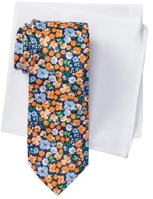 Tommy Hilfiger Flower Field Tie & Pocket Square Set