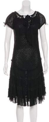 Jean Paul Gaultier Embroidered Midi Dress