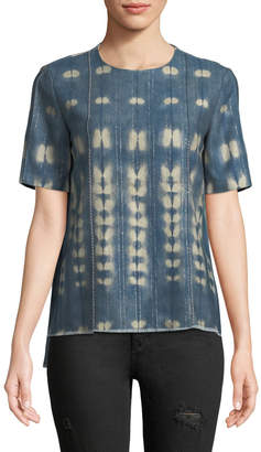 ADAM by Adam Lippes Vintage-Inspired Chambray Short-Sleeve T-Shirt