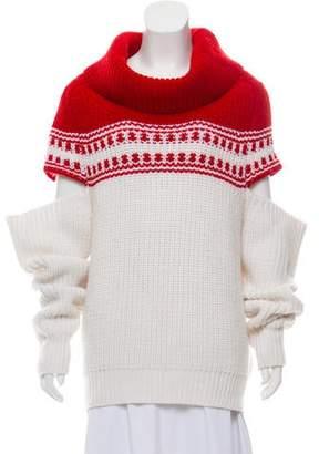 291a711f2f378a Monse Cold-Shoulder Turtleneck Sweater