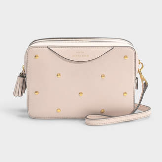 cdb27f76fa Anya Hindmarch Double Zip Wallet On Strap Hexagon Studs In Light Rose  Circus Leather