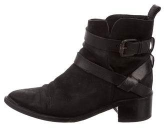AllSaints Leather Ankle Strap Boots