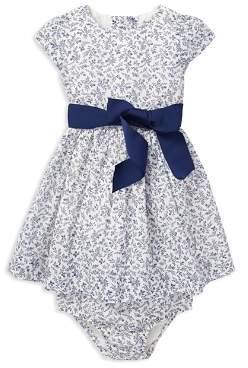 Ralph Lauren Girls' Floral Dress, Sash & Bloomers Set - Baby