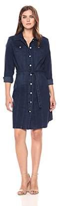 Bandolino Women's Lauren Button Front Belted Dress
