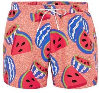 Topman Mens Pink Melons Swim Shorts