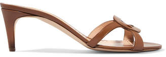 Rupert Sanderson Maeve Cutout Leather Mules - Tan