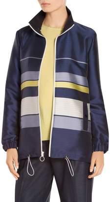 St. John Double Face Stripe Twill Jacket