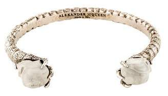 Alexander McQueen Resin Double Skull Cuff
