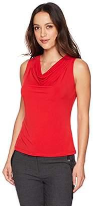Calvin Klein Women's Petite Solid Drape Neck Cami