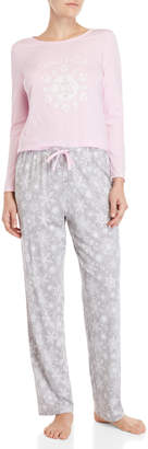 Famous Designer Two-Piece Printed Pajama Set