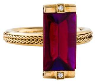 Baccarat 18K Crystal & Diamond Insomnight Mordore Ring