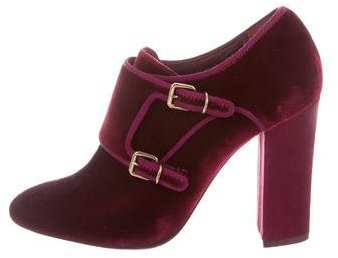 Tory BurchTory Burch Velvet Square-Toe Ankle Boots