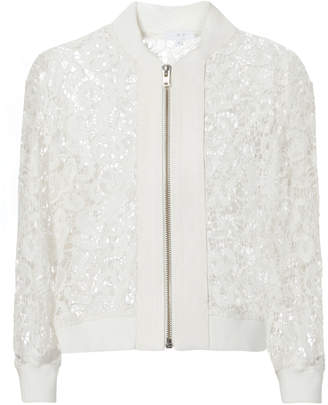 IRO Lace White Bomber Jacket