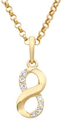 Junior Jewels Cubic Zirconia 14k Gold Infinity Pendant Necklace