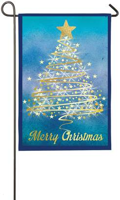 "Evergreen Merry Christmas"" Tree Indoor / Outdoor Garden Flag"