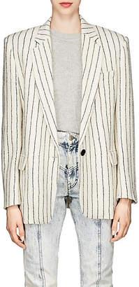 Isabel Marant Women's Elder Striped Compact Wool-Linen Tweed Blazer