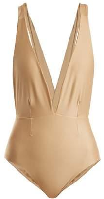Haight - Marina Deep V Neck Swimsuit - Womens - Nude