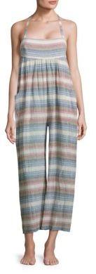 Mara Hoffman Sahara Striped Organic Cotton Jumpsuit $250 thestylecure.com