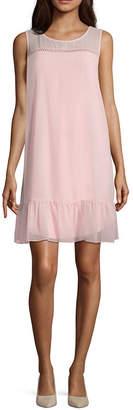 By Artisan Sleeveless Peplum Short Dress