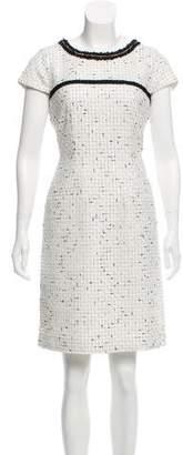 Karl Lagerfeld Tweed Knee- Length Dress w/ Tags